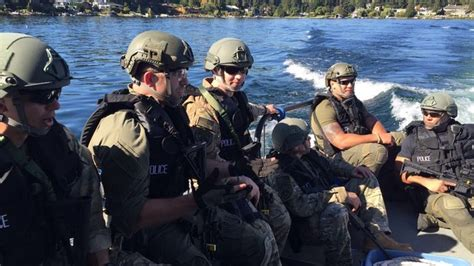 bellevue swat officers practice  lake washington kiro tv