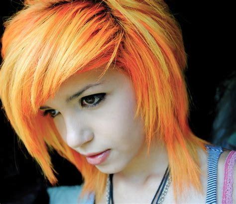 Cute Emo Girl Orange Hair Pretty Image 334750 On