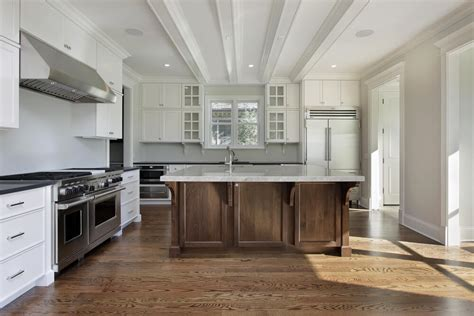 white kitchen wood island 31 quot new quot custom white kitchens with wood islands 1425