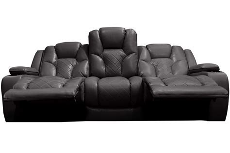 Bastille Power Reclining Sofa with Drop Down Table at