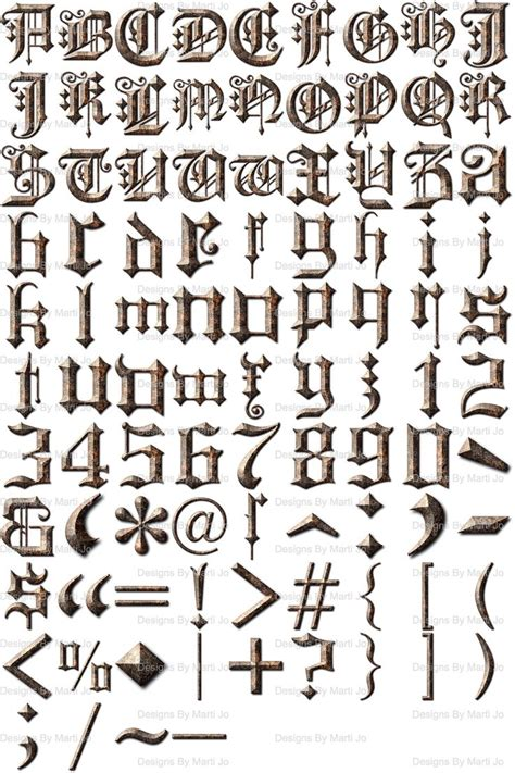 english script letters distressed letters instant etsy lettering alphabet lettering