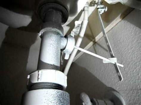 leak at drain stopper pivot arm avi youtube