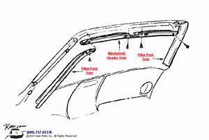 1969 Corvette Windshield Trim Parts