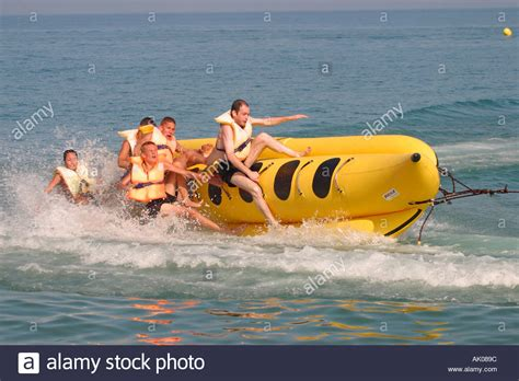The Boat Ride In Spanish by Torremolinos Costa Del Sol Spain Banana Boat Ride On