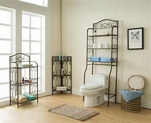 3, Piece, Pewter, Metal, 3, Tier, Bathroom, Storage, Shelves, Organizer, Display, Set