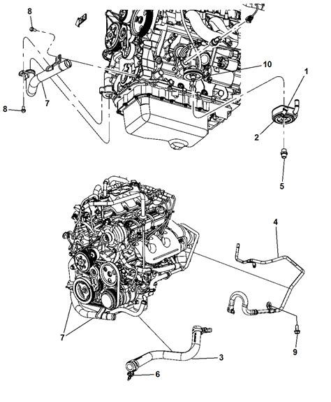 2010 Dodge Engine Diagram by 2010 Chrysler Town Country Engine Cooler Hoses