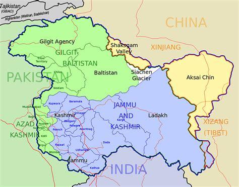map  kashmir mapsofnet