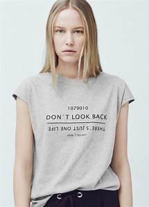 T Shirt Avec Message : message cotton t shirt women in 2019 my wishlist 2016 spring t shirts for women shirts ~ Nature-et-papiers.com Idées de Décoration