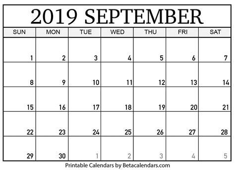 blank september  calendar printable beta calendars