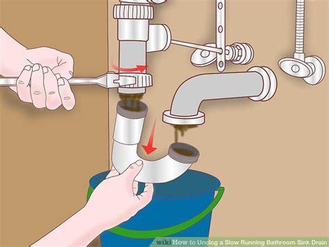 slow draining bathroom sink not clogged 4 ways to unclog a slow running bathroom sink drain wikihow