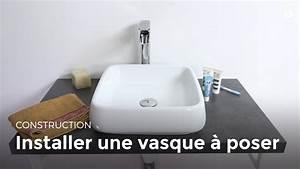Installer Un Plan De Travail : installer une vasque poser bricolage youtube ~ Melissatoandfro.com Idées de Décoration