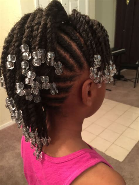 Simple cornrows braids little girl braids black