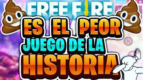 Garena free fire also is known as free fire battlegrounds or naturally free fire. Por estas razones FREE FIRE ES EL PEOR JUEGO DE LA ...