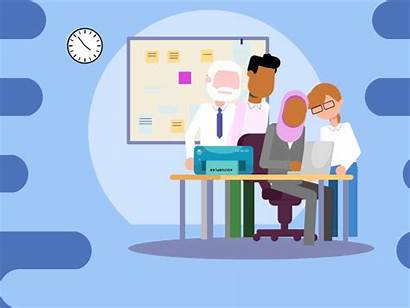 Office Collaboration Dribbble Joakim Hospital Animated Animation