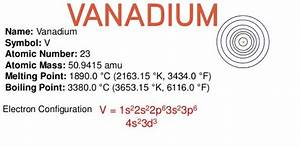 Which Answer Is The Electron Configuration Of Vanadium