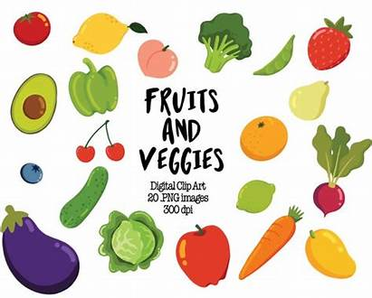 Clipart Veggies Clip Fruits Vegetable