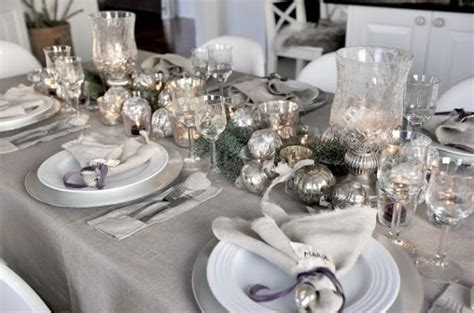 silver table decorations christmas table styling destination living
