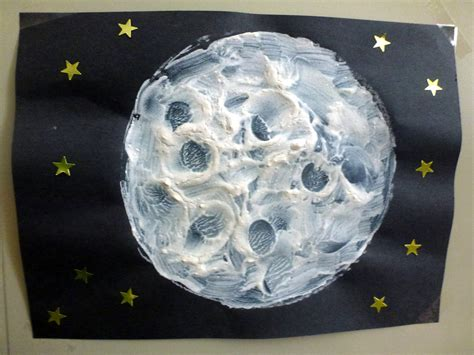 choices for children textured moon paintings 133 | textured moon