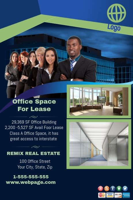 office space  lease template postermywall