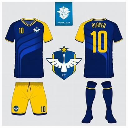 Jersey Football Soccer Template Kit Vector Uniform