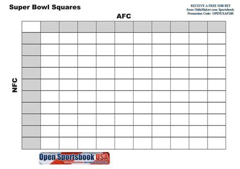 printable super bowl squares  ezzy