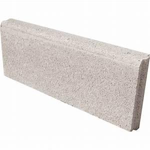 Bordure droite Avec emboîtement béton ton pierre, H 20 x L 50 cm Leroy Merlin