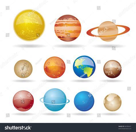 Planets Sun Our Solar System Vector Stock-vektorgrafik ...