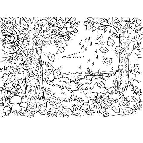 Kleurplaten Bladeren Bomen by Leuk Voor In Het Bos Verliezen De Bomen Bladeren