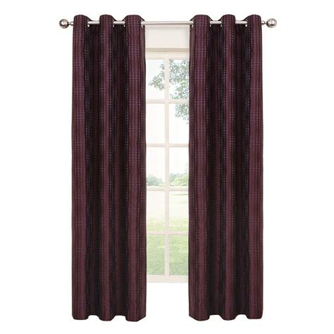 Plum And Bow Blackout Curtains by Eclipse Captree Blackout Plum Polyester Grommet Curtain