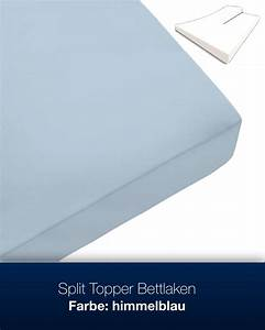 Bettlaken Topper 180x200 : split topper bettlaken 100 baumwolle ~ Lateststills.com Haus und Dekorationen