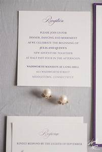 julia quinns gold and purple layered wedding invitation With lavender avenue wedding invitations