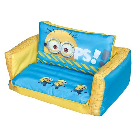 Despicable Me Minion Inflatable Flip Out Sofa Bed New Kids