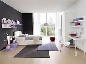 Chambre Gris Blanc : ameublement chambre ado en 95 id es pour filles et gar ons ~ Melissatoandfro.com Idées de Décoration