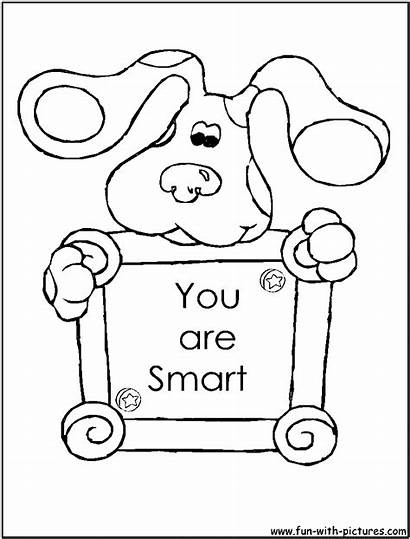 Coloring Clues Pages Blues Printable Fun Bluesclues