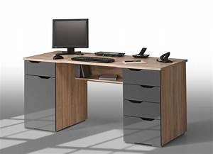 Bureau Avec Rangement : bureau avec rangement pas cher meuble pour ordinateur fixe lepolyglotte ~ Teatrodelosmanantiales.com Idées de Décoration