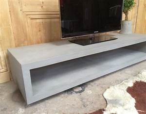 Meuble tv en beton for Meuble en beton