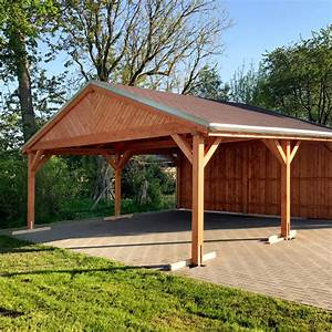 Carport Aus Holz : satteldach carport mit schindeln carports nach mass ~ Whattoseeinmadrid.com Haus und Dekorationen