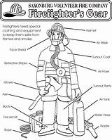 Firefighter Coloring Firefighters Fire Fireman Preschool Safety Gear Equipment Sheets Week Prevention Crafts Station Printable Worksheets Nice Thank Vfc Saxonburg sketch template