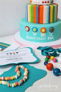 nikkiikkin dylans candy bar party cake and invitation 2 ...