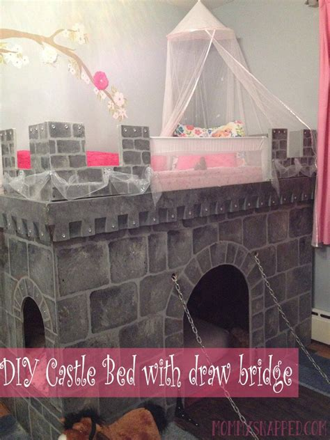 diy two story castle bed w drawbridge for