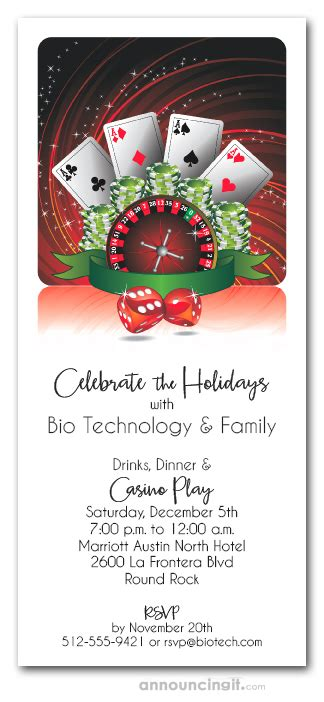 casino play monte carlo night holiday party invitations
