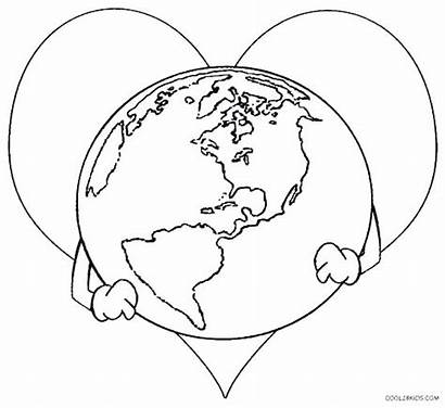 Earth Coloring Planet Pages Printable Layers Earthquake