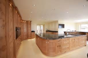 bespoke burr oak kitchen with walk in pantry and large