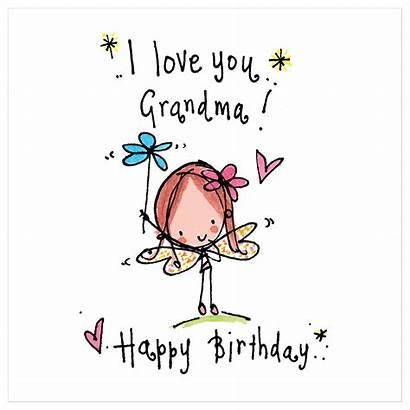 Grandma Birthday Happy Lucy Card Juicy Designs