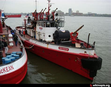 Fireboat Greenport by Fireboat Fighter Museum Greenport New York
