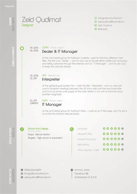 My Resume Template by My Resume By Zeidroid On Deviantart Infographic Visual