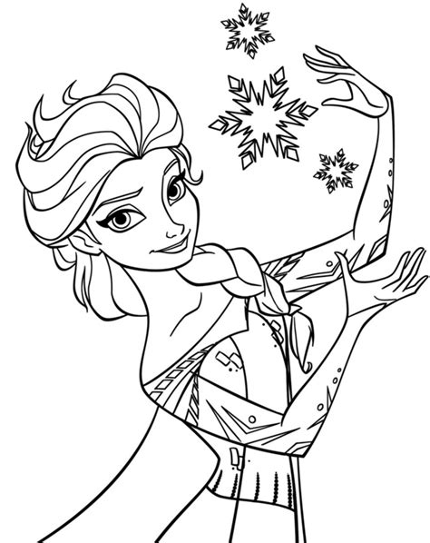 Coloring Elsa by Elsa Coloring Pages Free Large Images