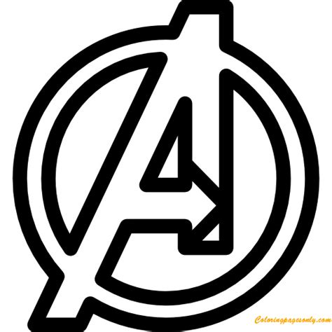 avengers symbol coloring pages the avengers symbol coloring page free coloring pages online