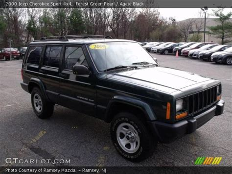 jeep cherokee green 2000 forest green pearl 2000 jeep cherokee sport 4x4 agate