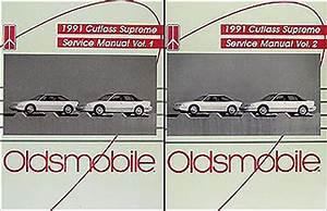 1991 Oldsmobile Cutlass Supreme Repair Shop Manual Original